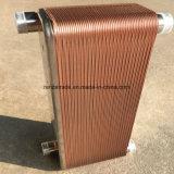 Tipo cubierto con bronce de cobre cambiador de OEM/Customized de calor de la placa para el sistema de enfriamiento de la HVAC