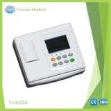 Máquina de eletrocardiógrafo ECG de três canais
