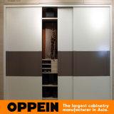 Obrein Melamine Sliding Door Construído em madeira quarto guarda-roupa (YG91553)