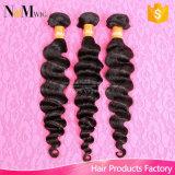 自由な出荷の熱い販売の製品100g/Lotの加工されていない束の毛の拡張ブラジルの波状の美しい毛