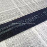 25mm concebido faixa elástica com padrão de logotipo de Silicone Transparente