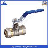 Шариковый клапан трубы Pex женским покрынный никелем латунный (YD-1042)