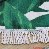 Напечатанное полотенце пляжа Microfiber круглое с Tassels
