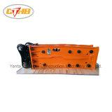 掘削機260glc 230glc 200glc Sh210-5 Sh210LC-5 Sh240-5 Sh350HD-3bのための側面のタイプSb81の黄色いカラー油圧石のブレーカ