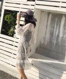 Тенниски кофточки втулки плеча шнурка женщин вышивки верхние части шнурка длинней вскользь