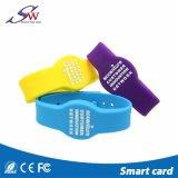 Bracelet programmable Em4305 de silicones d'IDENTIFICATION RF du bracelet LF 125kHz