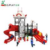 Infantário alunos UFO tema equipamentos de playground de plástico no exterior para venda