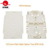 12 núcleos de empalme de fibra óptica de la bandeja (FST-Una serie)