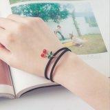 Weinlese-nachgemachte Perlesun-schwarze Spitze-nettes Armband