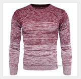 Maglione dell'uomo lavorato a maglia svago del O-Collo del jacquard di Ombre di modo