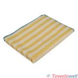 黄色い縞のMicrofiberの台所皿タオル