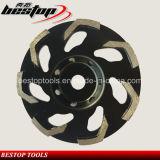 Roda de copos de moagem de concreto de diamante e Ferramenta de abrasivos de polimento