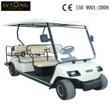 6 Sitzer White Electric Sightseeing Golf Car