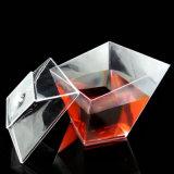 플라스틱 컵 처분할 수 있는 컵 소용돌이 사각 컵 5.5 Oz 식기