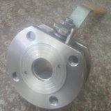 Tipo valvola a sfera di Short della cialda di CF8m industriale con la maniglia