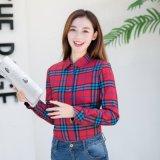 Новый способ вскользь плюс верхние части кофточки женщины рубашек втулки кофточек женщин размера длинние