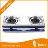 Einfacher sauberer Qualitäts-Doppelt-Brenner-Gas-Kocher (JP-GC207)