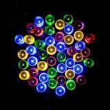 La cadena solar enciende las luces de la cadena del LED impermeables