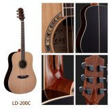 Guitarra de acero sólida hecha a mano de la cadena del palo de rosa B&S de la tapa del cedro