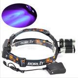 5000lm 3 LED Xml T6 +2 R5 purpurroter heller UVmodus-UVscheinwerfer des Scheinwerfer-3 für die Fahrrad-Jagd