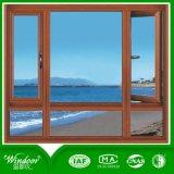 목제 색깔 PVC 차일 Windows, 여닫이 창 Windows 및 슬라이딩 윈도우