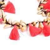 Shell van Boho de Houten Juwelen van de Halsband van de Vrouwen van de Parel Leeswijzer Geweven