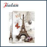 Kundenspezifisches Papier gedruckter Effiel Standmodell-Einkaufen-Träger-Geschenk-Beutel