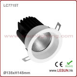 引込められた12W LED COB Ceiling Downlight LC7716D