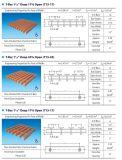 T-staaf 1 '' diep Grating van Pultruded Pedestring van 18% of van de Glasvezel 33%Open, Pultrusion van de Glasvezel Grating