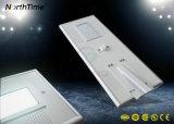 Lampe solaire extérieure économiseuse d'énergie de détecteur de corps de détection automatique d'intense luminosité