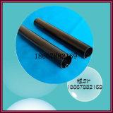 黒い円形PVC堅い管