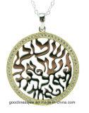 Pendente d'argento di pietra della CZ dei monili di prezzi di fabbrica per la donna (P5083)