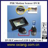 LEDライトが付いているPIRの動きセンサーの夜間視界HD 720pの保安用カメラ