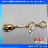 Glänzendes Goldfertige MetallKeychain Fabrik in China
