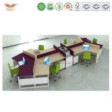 고전적인 녹색 MDF 사무실 책상 워크 스테이션 모듈 디자인