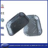 Contenitore a gettare di di alluminio di utilizzazione alimentare del BBQ