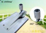 Straßenlaterne der Sonnenenergie-30W einteilige LED mit Kamera 360