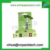 Rectángulo cosmético de empaquetado de encargo del perfume de la botella con la impresión de la insignia