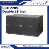 専門のスピーカーの拡声器Subwoofer (SRX 728S)は二倍になる18インチの