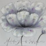 Pintura a óleo pintada da lona da flor da beleza do estilo de Europa mão simples