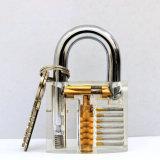 Mini serratura acrilica trasparente portatile del lucchetto di tasto del metallo per la cassaforte di viaggio del sacchetto di caso