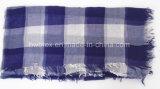 Bufanda fina entretejida color clásico del cuadrado del algodón del diseño del tartán (HWBC45)