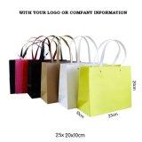 Costume elegante sacos de papel de compra impressos do presente luxuoso com logotipo