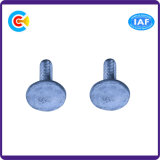 Aço carbono galvanizado de 4.8/8.8/10.9/M6 Ronda de prendedores plásticos personalizados/Parafusos de Cabeça Plana