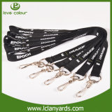 Cordão impresso Custom Thick Lanyard with Keyring Swivel Hook