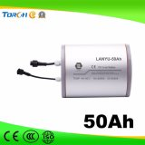 11.1V de alta qualidade recarregável 50ah armazenamento solar bateria de lítio de ciclo profundo