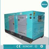 Generador diesel silencioso de Cummins 80kw