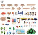 Brinquedo ajustado do trem de madeira quente do presente 108PCS do Natal para miúdos e crianças