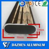 Profil en aluminium d'extrusion de tube de fabrication pour le tube de garde-robe