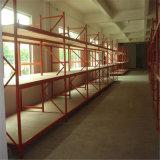 El almacén atormenta estantes largos del almacenaje del palmo